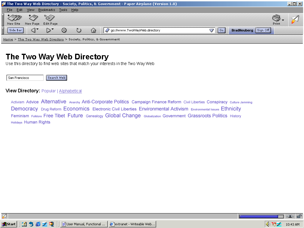 The Two Way Web Directory